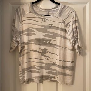 Z supply white camo French terry t shirt